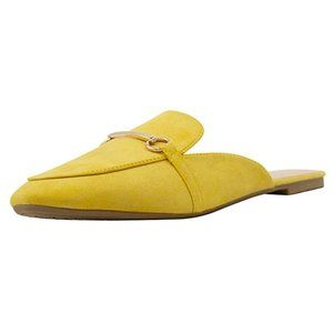 Shoes - Buckle Mule Backless Slip-on Loafer Yellow